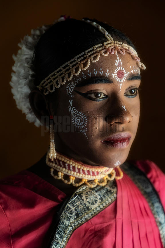 Portrait of a Gotipua Folk Dancer