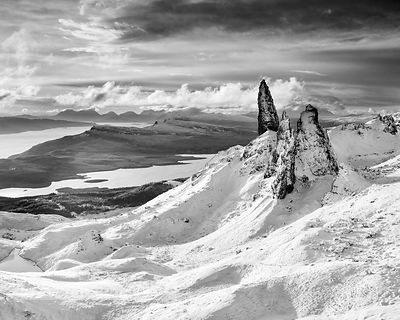 BP2303BW2 -  - The Old Man of Storr Black and White Print