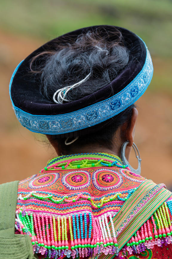 Close-up of Flower Hmong Dress