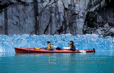 Kayakers in front of Iceberg