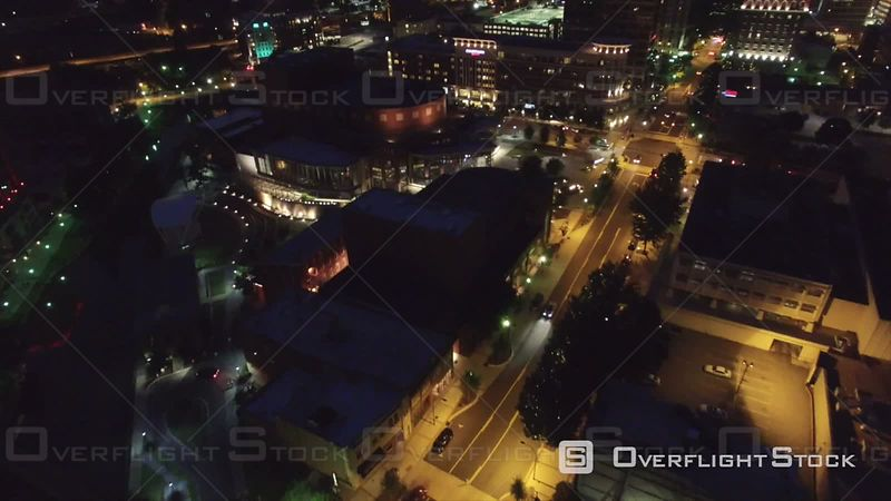 Night Aerial Over Greenville South Carolina