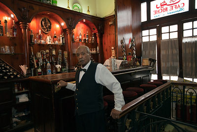 Egypt - Cairo - Fil Fil, a waiter who has worked in Cafe Riche since 1943