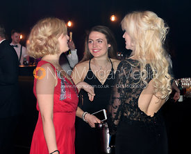 Laura Bentley, Rosie Cass, Georgina Fielding. The Quorn Hunt Ball