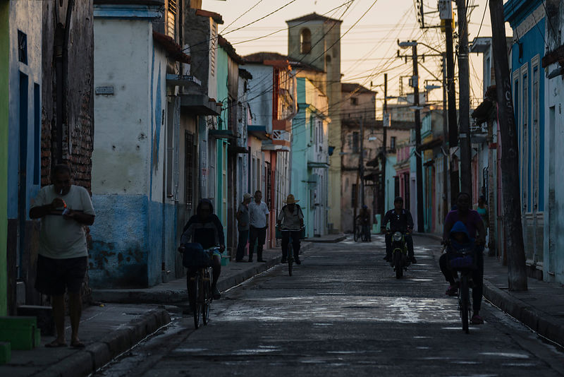 Early Morning Life in a Street near the Cinco Esquinas Area