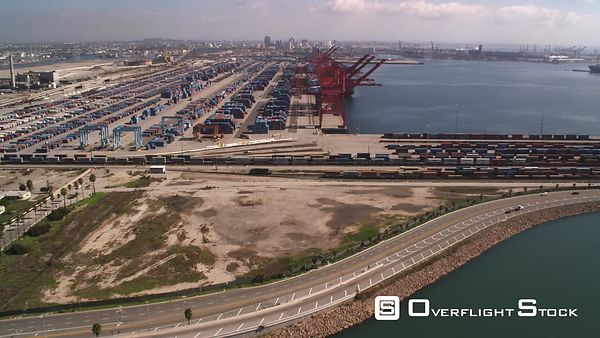 Over a Container Terminal in Los Angeles Harbor.