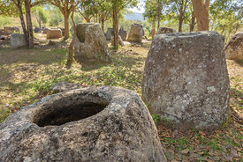 The Plain of Jars site 2 is a megalithic archaeological landscape at Ban Nakho near Phonsavan in the province Xieng Khuang, L...