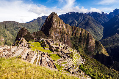 Morning light on Machu Picchu. Cusco Region, Urubamba Province, Peru. December 2013.