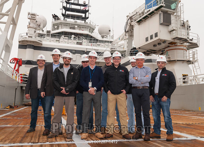 Group portrait of marine operations staff