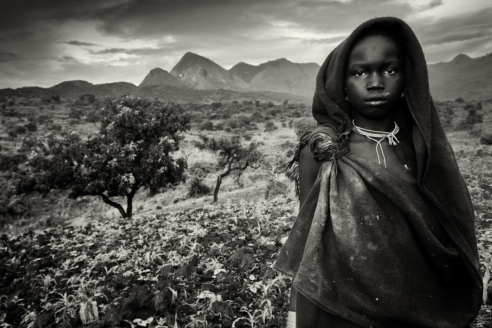 Portrait of a Young Surma Girl