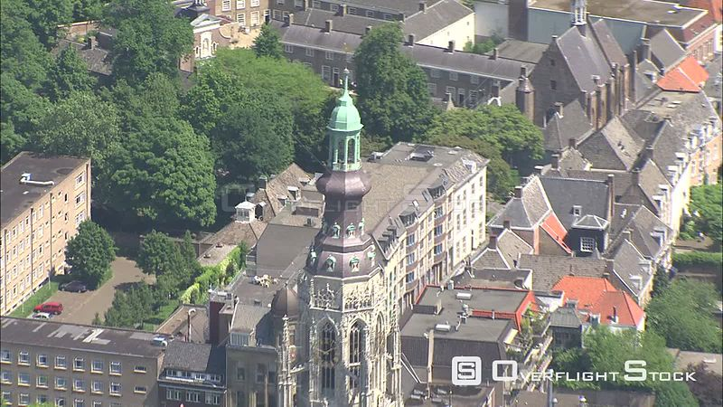 Orbiting Breda Cathedral, The Netherlands