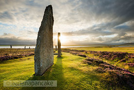 Ring Of Brodgar at sunrise, Orkney, Scotland