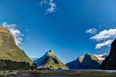 Autumn morning Milford Sound
