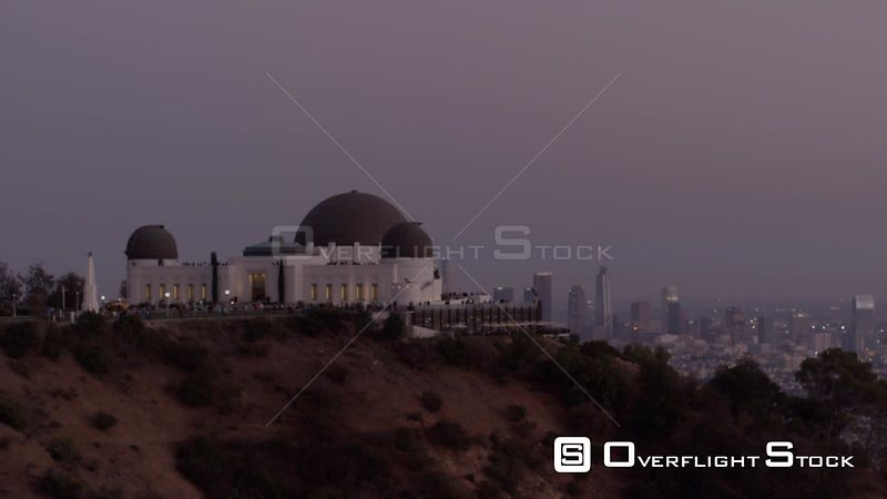 Griffith Obersvatory with L.A skyline in the background, blue hour