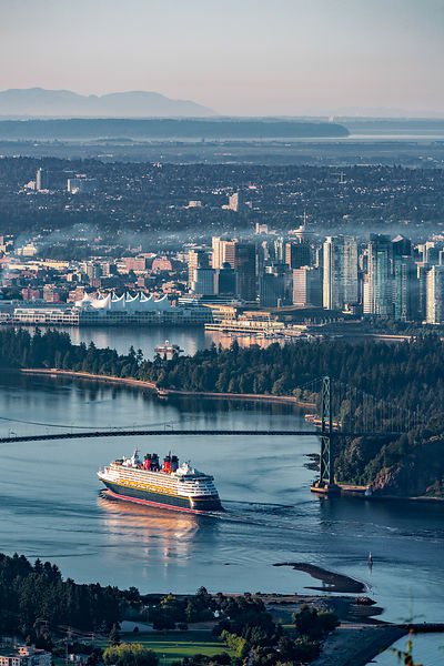 Disney Cruise Ship Arrives in Vancouver