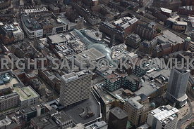 Leeds aerial photograph looking from across the Pinnacle West Riding House towards the Trinity Shopping Centre