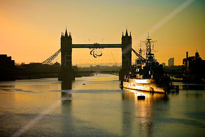 Tower Bridge at Sunrise with The Paralympic Agitos