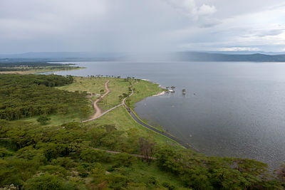 Lake Nakuru after the flooding in 2012, Nakuru National Park, Kenya. November 2012.