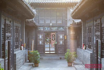 Ancient chinese courtyard in PIngyao, China
