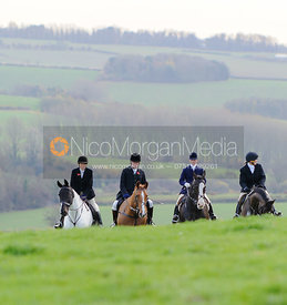At the meet - The Fernie Hunt at Knights Farm 10/11