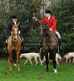 Robin Sanderson and Matt Ramsden MFH - Bedale at Tunstall, Catterick