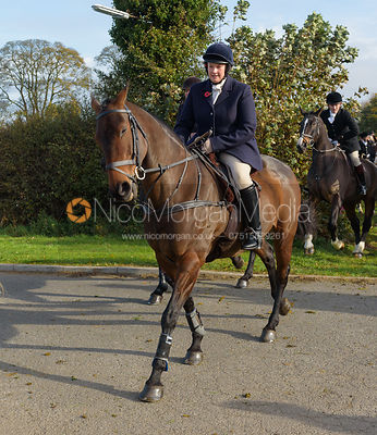 Charlotte Wright leaving the meet at Long Clawson 28/10