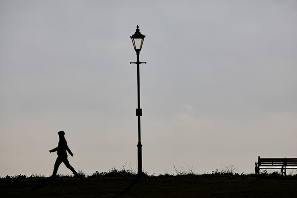 A street lamp silhouette