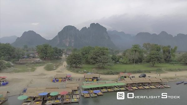 Village of Vang Vieng Laos