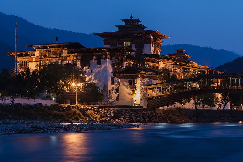 Punakha Dzong or at Dusk