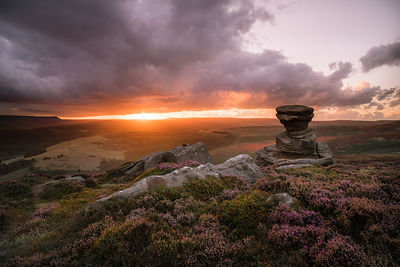 Salt Cellar sunset, Derwent Edge | Peak District Photography