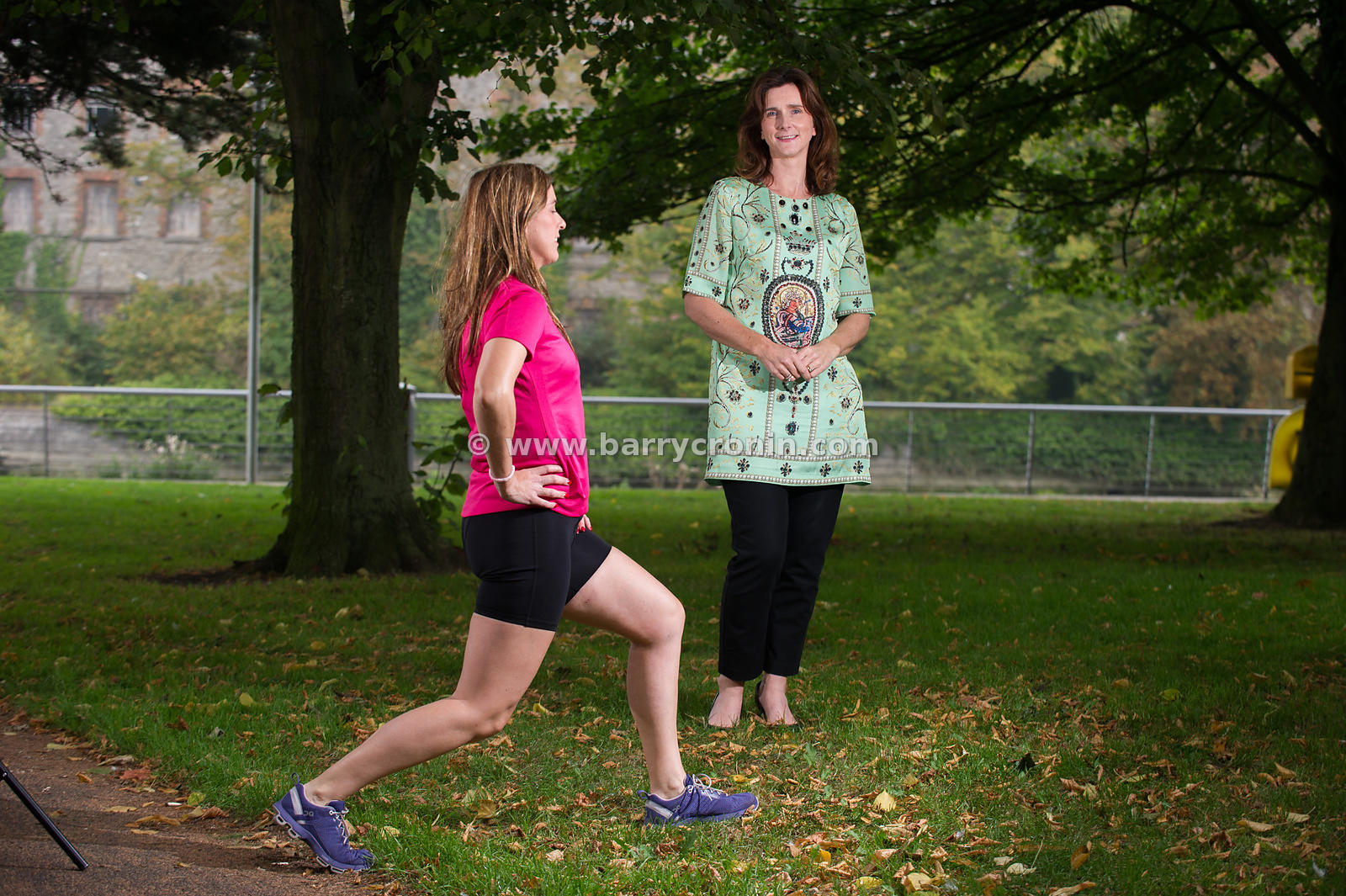 16th September, 2014.Yvonne Brady of YVB Sports photographed in Drogheda with Denise Hughes modelling her shorts.Photo:Barry ...