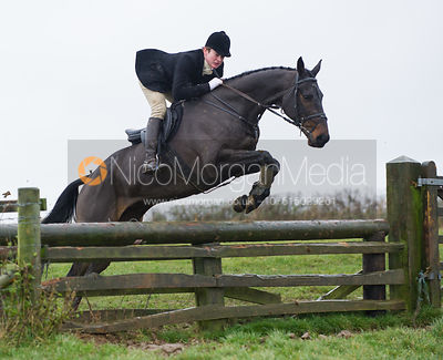 Ben Furnival jumping fences at Stone Lodge Farm - The Cottesmore at John O'Gaunt 24/11/12