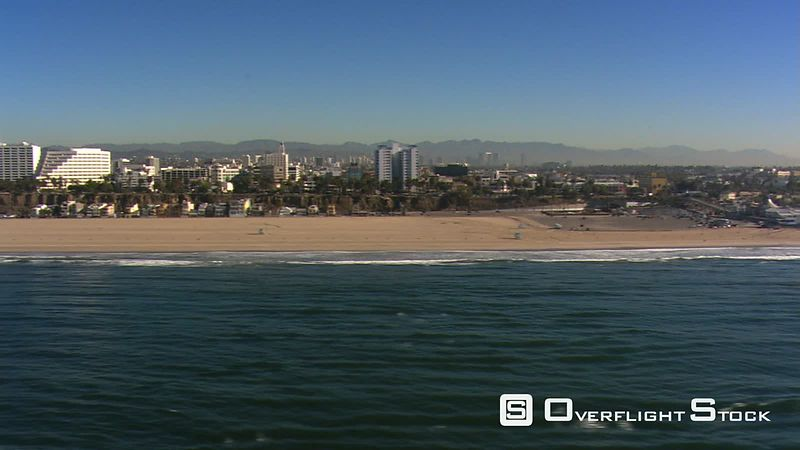 Flight paralleling beach to Santa Monica Pier.