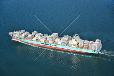 MAERSK Detroit Freighter Ship in New York Harbor