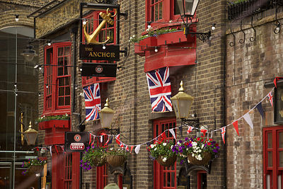 The Anchor Pub Decked out in Union Flags