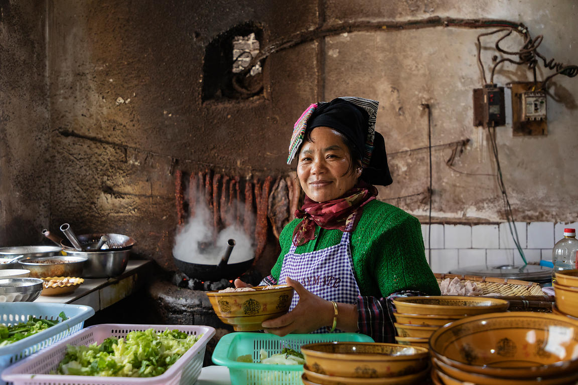 Woman Preparing Lunch