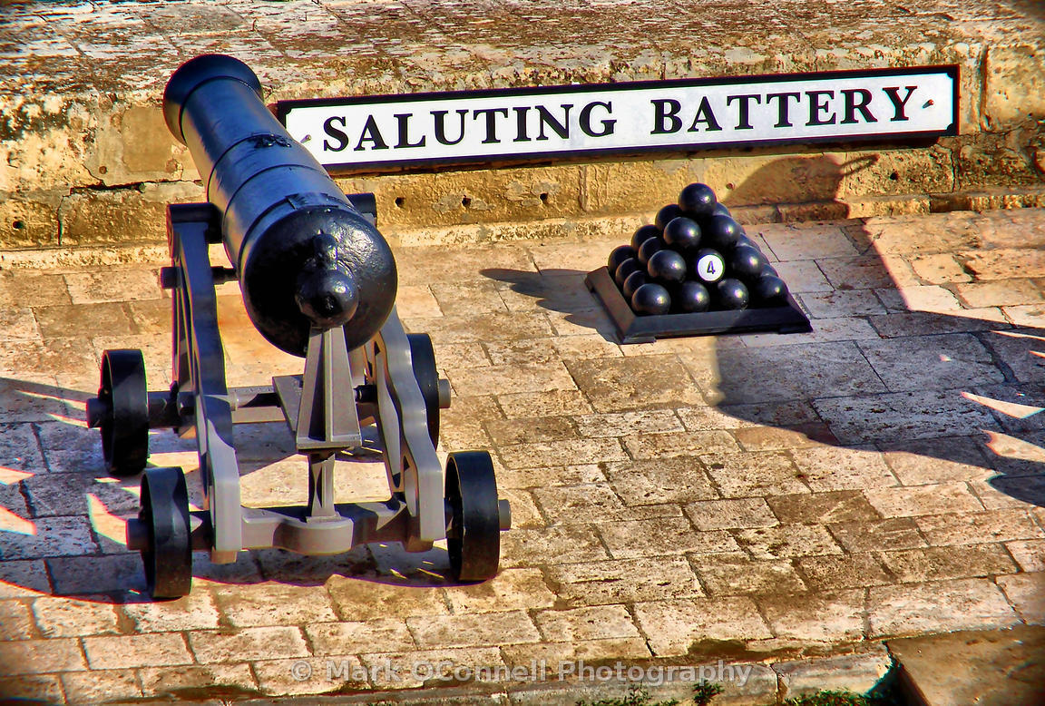 Saluting battery in Malta
