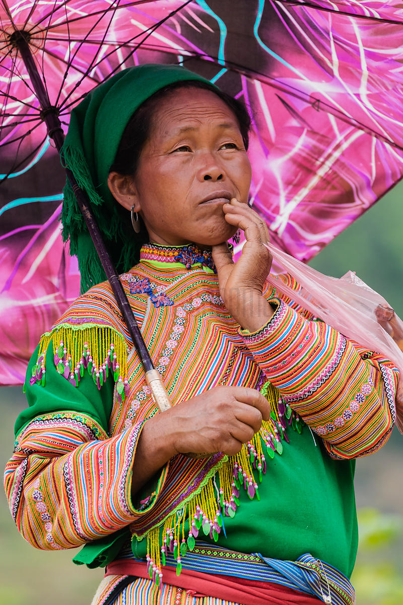 Portrait of a Flower Hmong Woman