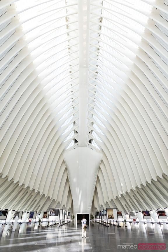 Interior of Agora, City of Arts and Sciences, Valencia, Spain