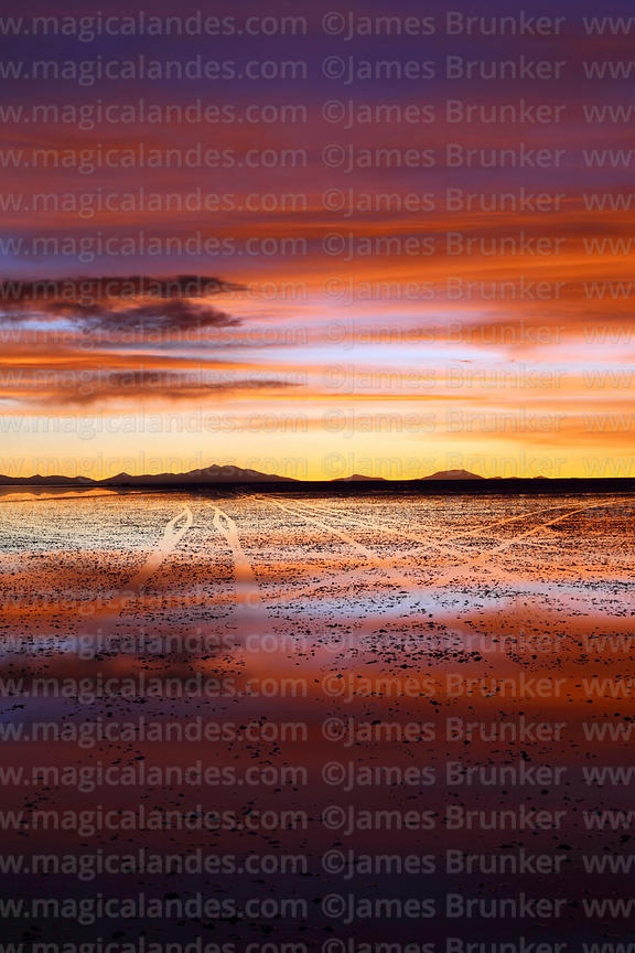 Magical Andes Photography Vehicle Tracks And Sunset