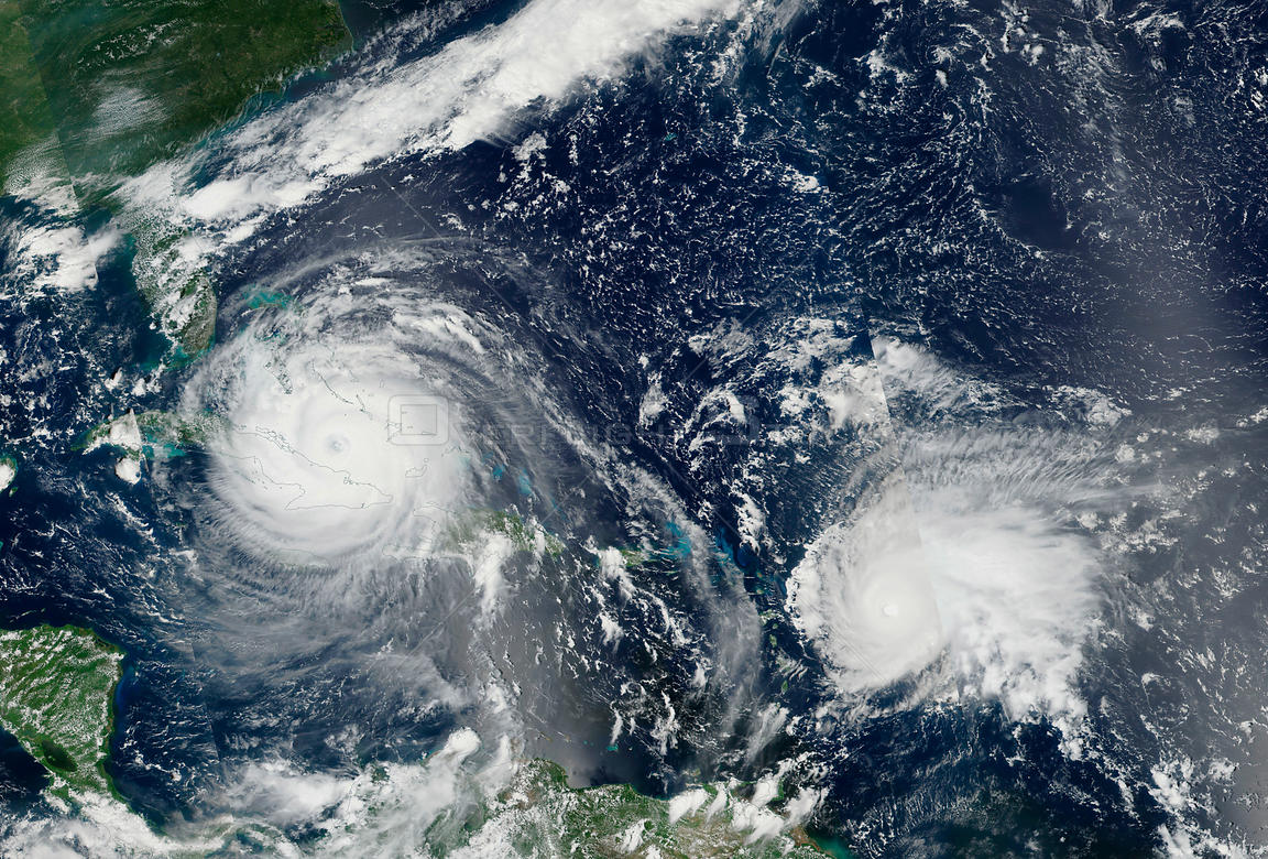NASA Satellite Shows Hurricane Irma and Jose