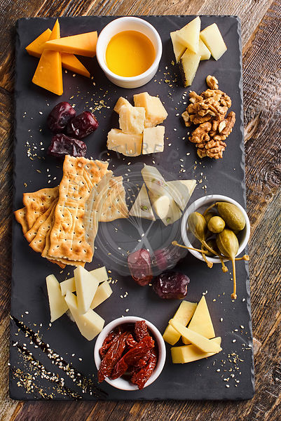 cheese board platter served with crackers
