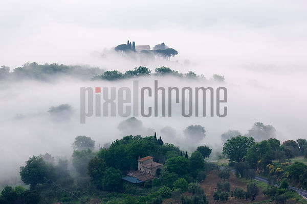 Morning Mist in the Val d'Orcia