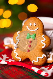 Gingerbread man christmas cookie