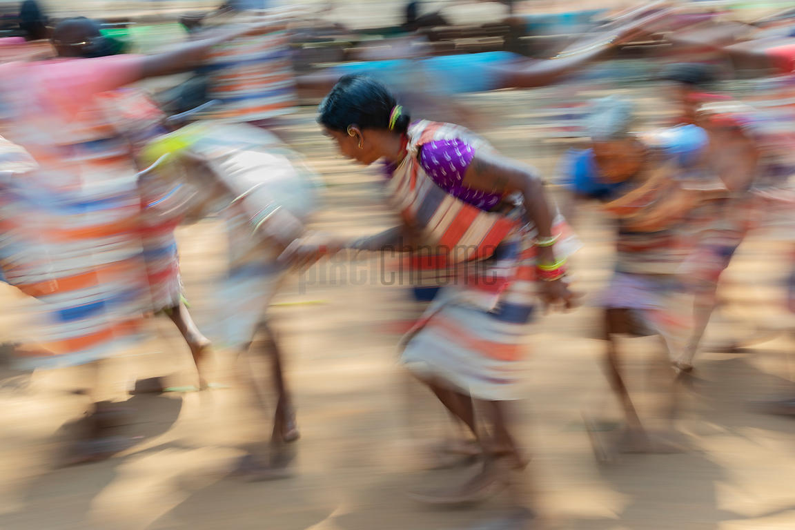 Women from the Gadaba Tribe Performing a Traditional Dance at the Village of Kangarapad