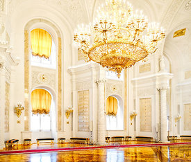 The Hall of the Order of St. George in the Grand Kremlin Palace; Moscow, Russian Federation
