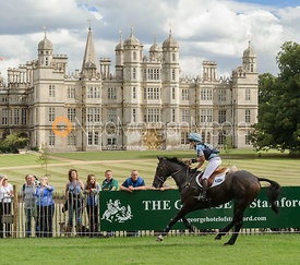 Jonelle Richards and THE DEPUTY - cross country phase,  Land Rover Burghley Horse Trials, 7th September 2013.