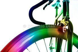 Multi Colored Bicycle Wheel Close