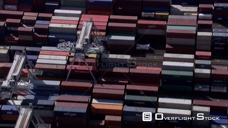 Over container terminal at the Port of Rotterdam, The Netherlands