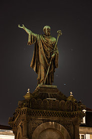 Statue of Urbain II at night, Clermont Ferrand