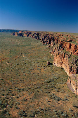 Aerial view of Osmond range, Bungle bungle NP Western Australia